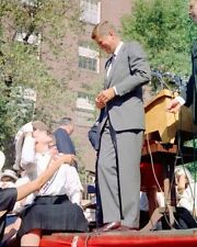 Senator John F. Kennedy talks to supporters in Columbus Ohio New 8x10 Photo