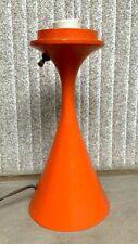 VINTAGE LAUREL LAMP ORANGE MUSHROOM BASE  MID CENTURY MODERN