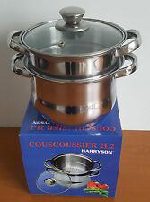 couscoussier en inox 2,2 litres tous feux et induction  marmite poele pierre wok