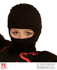 Childrens Máscara Ninja Negro Fancy Dress Costume warriror Traje Accesorio
