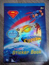 Superman Mega Libro de pegatinas para niños chicos diversión actividad Regalo 8 Hojas De Pegatinas