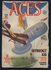 Fiction House ACES WWI Aviation Pulp, E. K. BERGEY Cover, February 1930, FINE