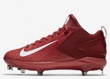 NIKE Force Mike Trout 3 Pro Metal Baseball Cleats Shoes Varsity Red White 8