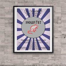 Parks and Recreation Mouse Rat Concert Poster Lil Sebastian Gift Art Ron Swanson