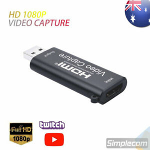 HDMI to USB 2.0 Capture Card Full HD 1080p for Live Video Streaming Recording