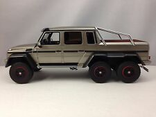 GT Spirit Mercedes Benz G Class G63 6X6 AMG Pearl Silver Resin Model Car 1/18