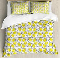 Lemons Duvet Cover Set Twin Queen King Sizes with Pillow Shams Bedding