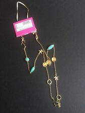 Turquoise Gold Coral Starfish Pineapple Lilly Pulitzer For Target Necklace Faux
