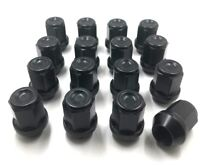 16 x ALLOY WHEEL NUTS BLACK FOR FORD M12 X 1.5 19MM HEX BOLTS LUGS STUDS NUT [3]