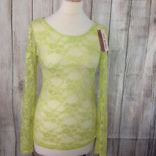 NEW - Fabulous Lacy Lime Top Size 12