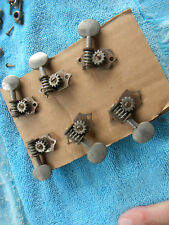 MID 30'S GROVER G-93 TUNING MACHINES COMPLETE SET OF 6  W/BUSHING SCREWS VINTAGE