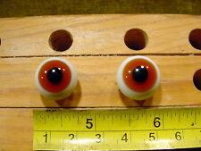 981 un par vintage esférico masivo muñeca cristal ojo un alambre círculo de 16mm