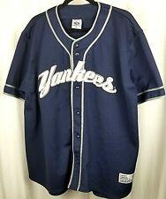 True Fan mens Yankees baseball jersey size XL blue Rodriguez fan collectible