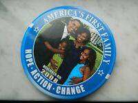 Americas First Family November 4th 2008 Obama Hope Action Change Pin Button 3""