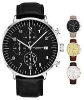 Stuhrling Men's 3911L Quartz Chronograph Dress Genuine Leather Band Sports Watch
