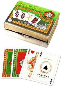 Piatnik Playing Cards - Tudor Rose, double deck