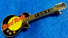 ENAMEL TOKYO HORIZONTAL BLACK GIBSON LES PAUL GUITAR MESH Hard Rock Cafe PIN