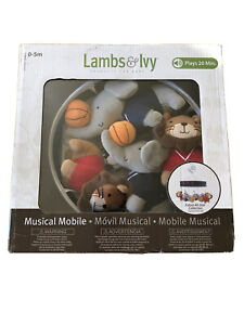 Lambs Ivy 8-Pieces Future All Star Musical Mobile - Blue/Gray