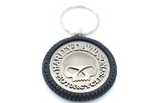 Genuine Harley Davidson Skull Tyre Key Ring Key Chain KY102975