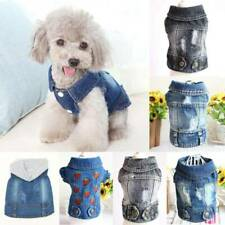 Various Dog Small Dog Cat Jean Jacket Puppy Sleeveless Coat Apparel Pet Clothes