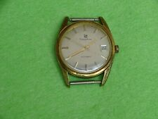 LIP Dauphine Automatic montre plaquée or Swiss Made heure + date automatique
