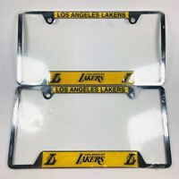 Los Angeles Lakers License Plate Cover Frame Set Of 2-Brand New