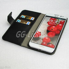 Card Wallet Flip Leather Kickstand Case for LG Optimus G Pro, E980 / F240
