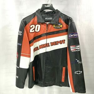 NWT NASCAR Tony Stewart Home Depot Leather Jacket by Wilsons Leather Large