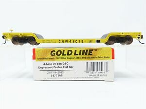 HO Scale Walthers 932-7889 CNW Chicago & North Western 90 Ton Flat Car #48013