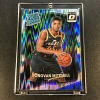 DONOVAN MITCHELL 2017 PANINI DONRUSS OPTIC #188 FLASH REFRACTOR RATED ROOKIE RC