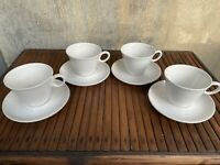EUC MCM Franciscan CLOUD NINE Cup and Saucer 4 Sets Whitestone