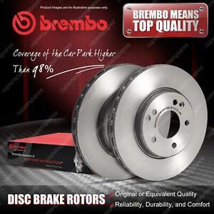 2x Front Brembo Disc Brake Rotors for Volkswagen LT 28-35 28-46 2D 2002 - 2006
