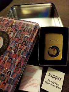 Zippo 70th Anniversary  Lighter and tin 1932-2002