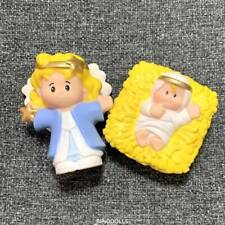 lot 2 Fisher Price Little People Nativity Angel & Baby Jesus Figure Gift toys