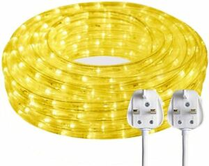 🔥SURNIE 220V 15M LED Outdoor Warm White Rope Light Waterproof Mains Powered 🚚✅