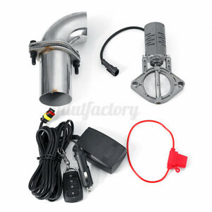 2.5'' 63mm Electric Exhaust Cut Off System E-Cut Out w/ Remote Control Valve Kit