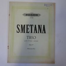 SMETANA trio g min op.15 , set of parts , peters 4238