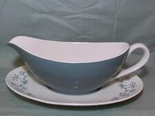 Royal Doulton April Showers Gravy or Sauce Boat & Stand  D6435