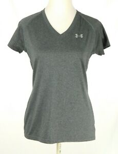 NWOT Under Armour Women Gray Athletic Top Semi-Fitted Small Short Sleeve NEW