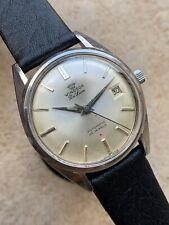 1960s Vintage Windsor Swiss Made Automatic Mens Watch Steel 34,5mm ETA 2472