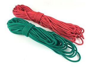 Port and Starboard Dinghy Spinnaker Sheet Rope Pair Red and Green 6m x 5mm each