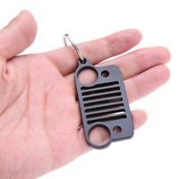 1Pcs Black Stainless Steel Jeep Grill Key Chain KeyChain KeyRing CJ JK TJ YJ XJ