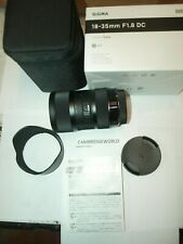 Sigma 18-35mm F1.8 DC HSM ART ZOOM Lens for PENTAX NEW in FACTORY BOX & CASE