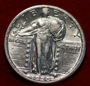 Uncirculated 1920-D Denver Mint Silver Standing Liberty Quarter