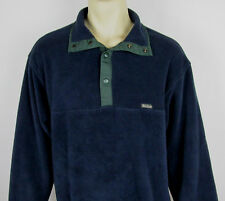 Woolrich Snap-T fleece jacket USA Made Navy Blue Mens Size L