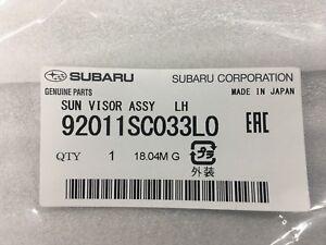 Genuine Subaru 2009-2013 Forester Driver's Side Sun Visor - 92011SC033LO OEM NEW