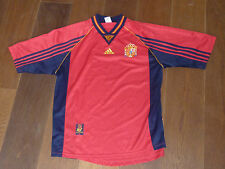 adidas MAILLOT de foot ESPAGNE taille L SPAIN Football Soccer OFFICIAL GARMENT