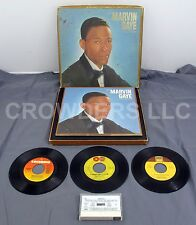 """Marvin Gaye Collection Portrait of Artist, Anthology Cassette Tape, 3x 7"""" Record"""