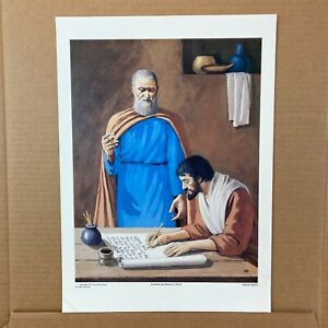 Jeremiah and Baruch at Work by Harold Minton Bible Teaching Picture Prophets