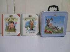 2x HB livre croix lapin hérissons Ballon Percy le Park Keeper Lunchbox Tin Très bon état